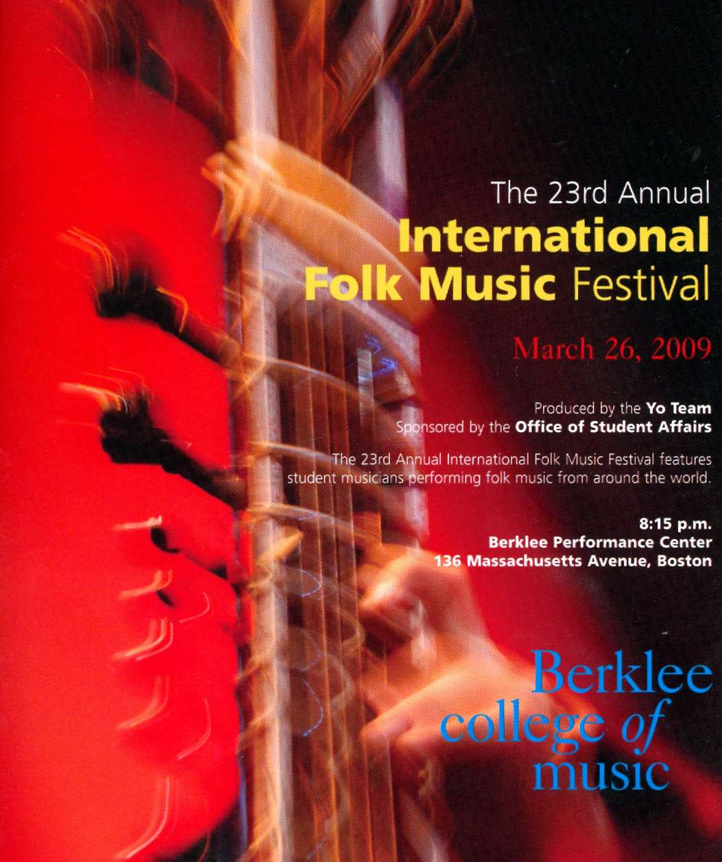International Folk Music Festival, Boston 2009